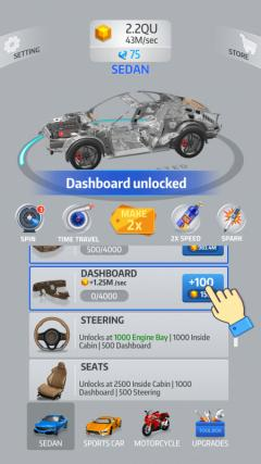 Скриншот android игры Idle Car