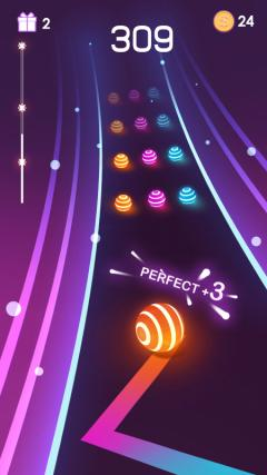Скриншот android игры Dancing Road: Color Ball Run
