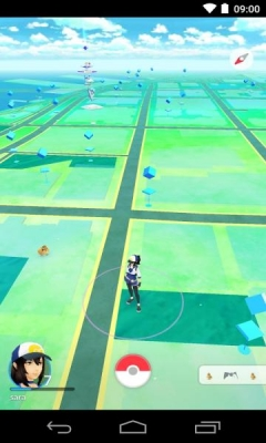 Скриншот android игры Pokemon Go