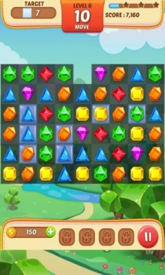 Скриншот android игры Jewel Match King