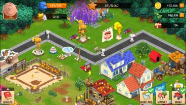 Скриншот android игры Peanuts: Snoopys Town Tale