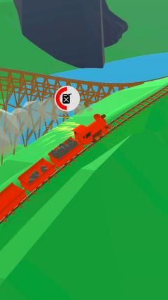 Скриншот android игры Off The Rails 3D