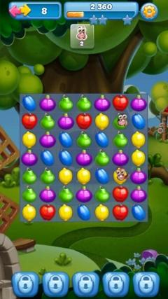 Скачать три фрукта в ряд: фруктовая страна! На андроид взлом все.