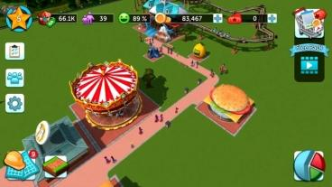 Скриншот android игры RollerCoaster Tycoon Touch