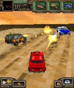 Скриншот java игры Guns, Wheels & Madheads 3D