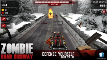 Скриншот android игры Zombie Road Highway