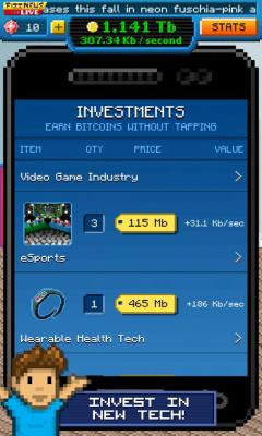 Скриншот android игры Bitcoin Billionaire / Биткоин Миллиардер