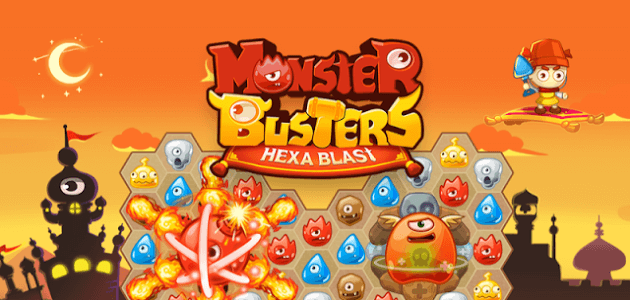 Скачать android игру Monster Busters: Hexa Blast сверху cмартфон равно планшет. Monster Busters: Hexa Blast - android игрушка в автомат бесплатно