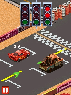 Скриншоты java зрелище Cars: Hotshot Racing / Тачки: Жаркие Гонки. Скачать Cars: Hotshot Racing / Тачки: Жаркие Гонки бесплатно