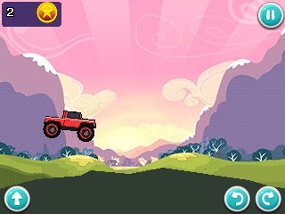 Скриншот java игры Hill Car Racers